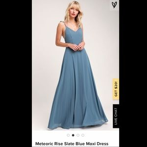 Blue/Gray Lulu's Bridesmaids Dress
